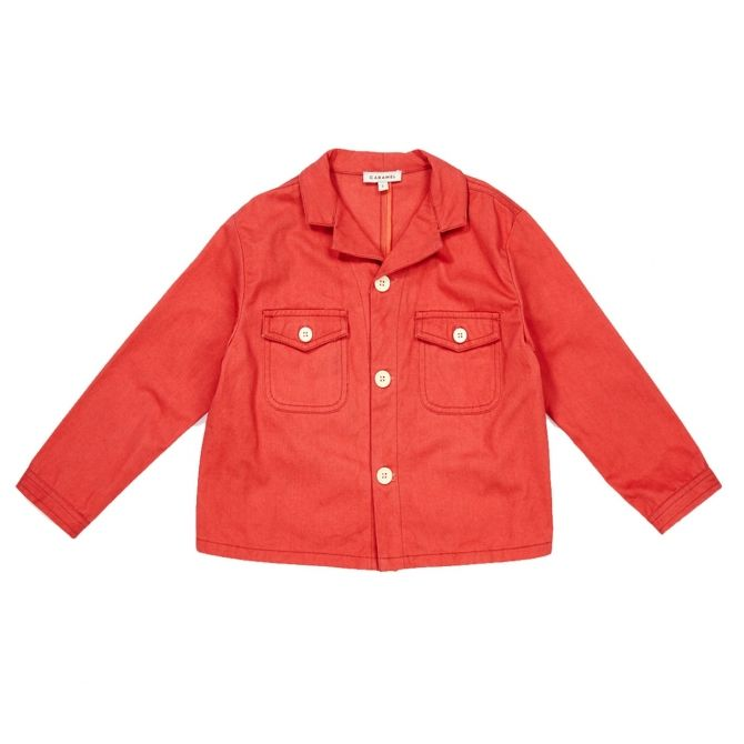 Caramel Baby & Child Jacket Yarrow Rose Peach red