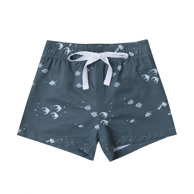 Angel Fish Swim Trunk blue - Rylee and Cru