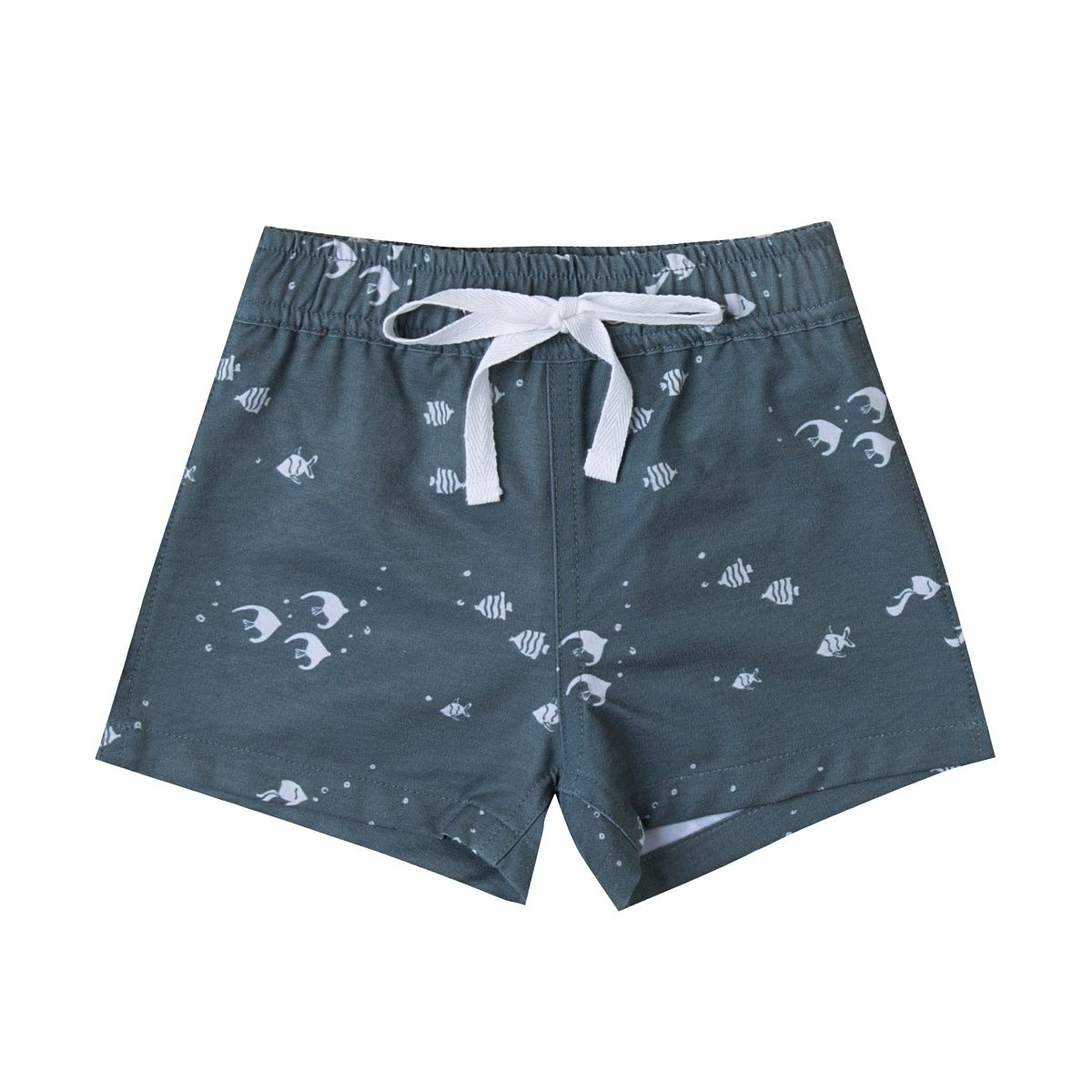 Rylee and Cru Angel Fish Swim Trunk blue