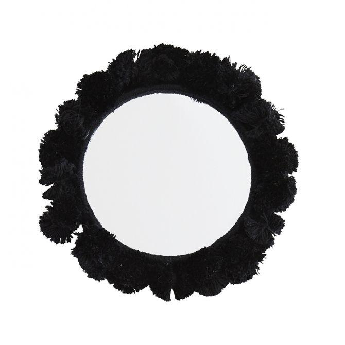 Madam Stoltz Lusterko kieszonkowe czarne 9 cm