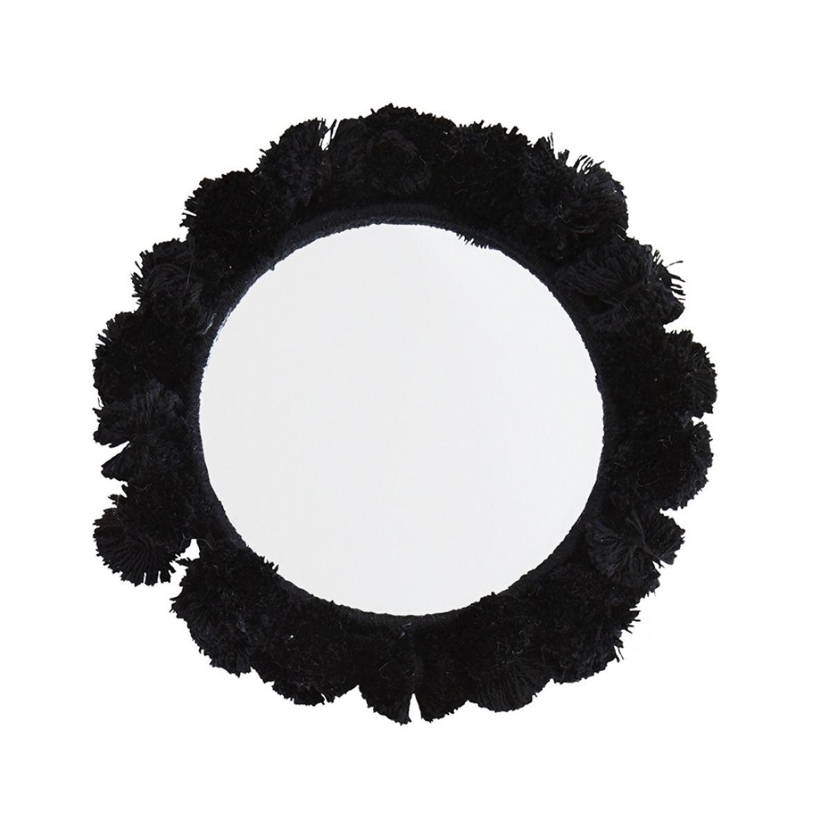 Lusterko kieszonkowe czarne 9 cm - Madam Stoltz
