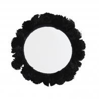 Lusterko kieszonkowe czarne 9 cm