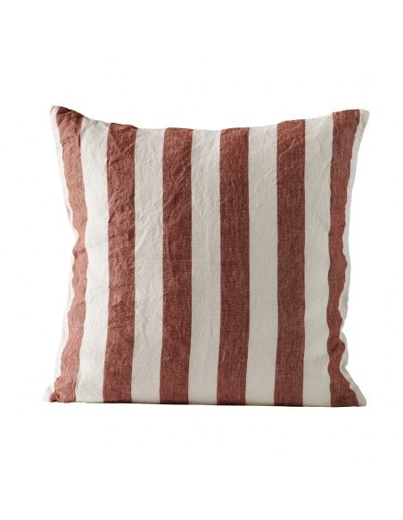 Tine K home Cushion cover striped rust