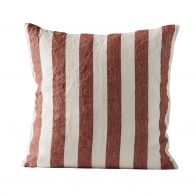 Cushion cover striped rust