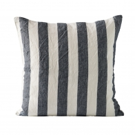 Cushion cover striped navy