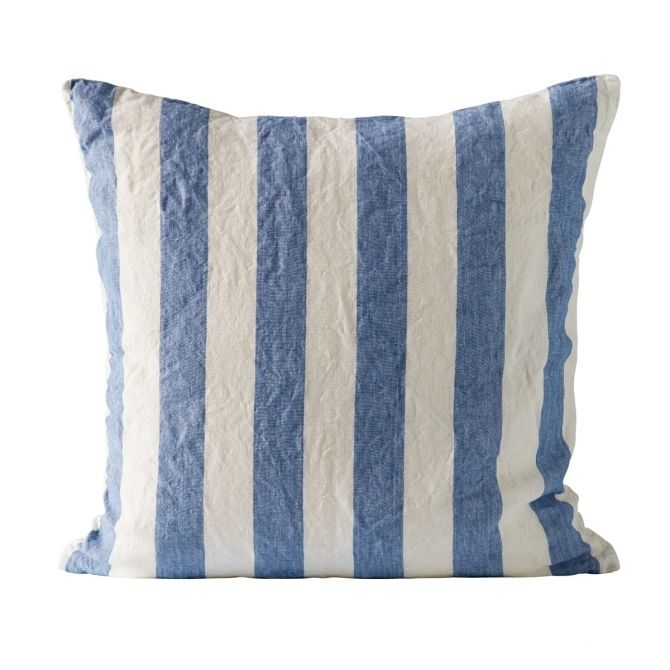 Tine K home Cushion cover striped blue
