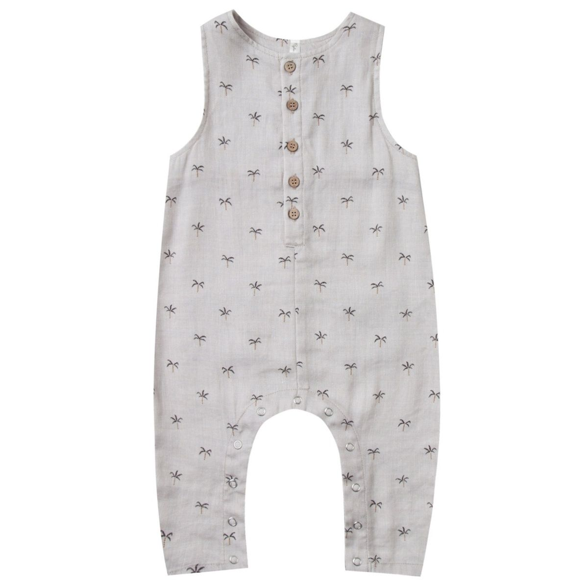 Palms Button Jumpsuit white - Rylee and Cru