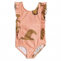 Crocco Ruffled Swimsuit pink