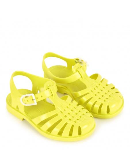 Sandały Canari limonkowa żółć - Meduse