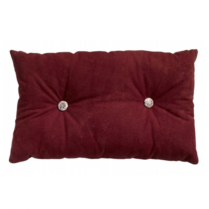 Button cushion, wine red, w/filling - Nordal
