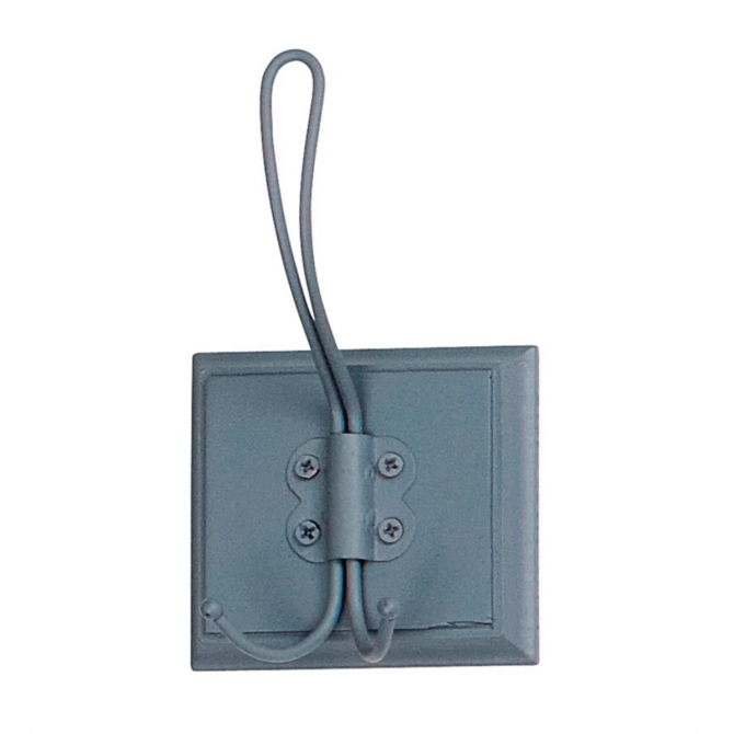 Coat rack 1 hook dusty blue - Nordal
