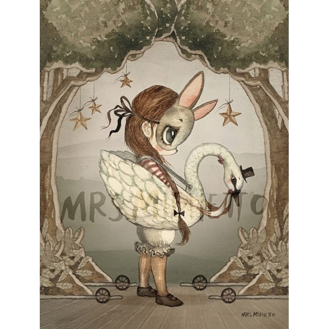 Mrs. Mighetto Poster card Miss Edda 18x24