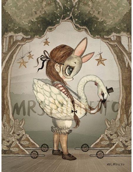 Mrs. Mighetto Poster card Miss Edda 18x24