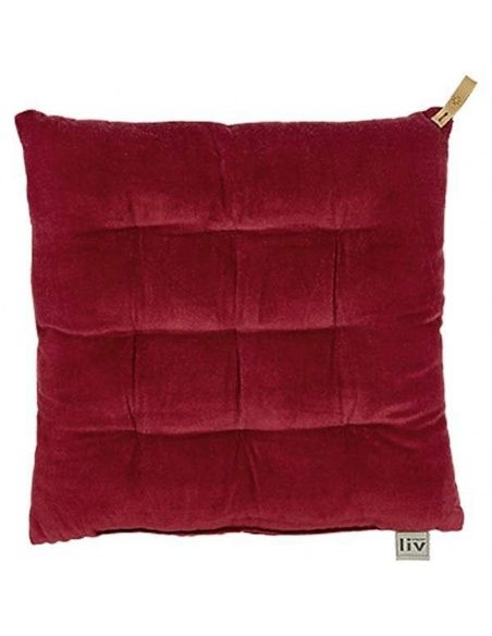 liv interior Chairpad 9 tucks rouge