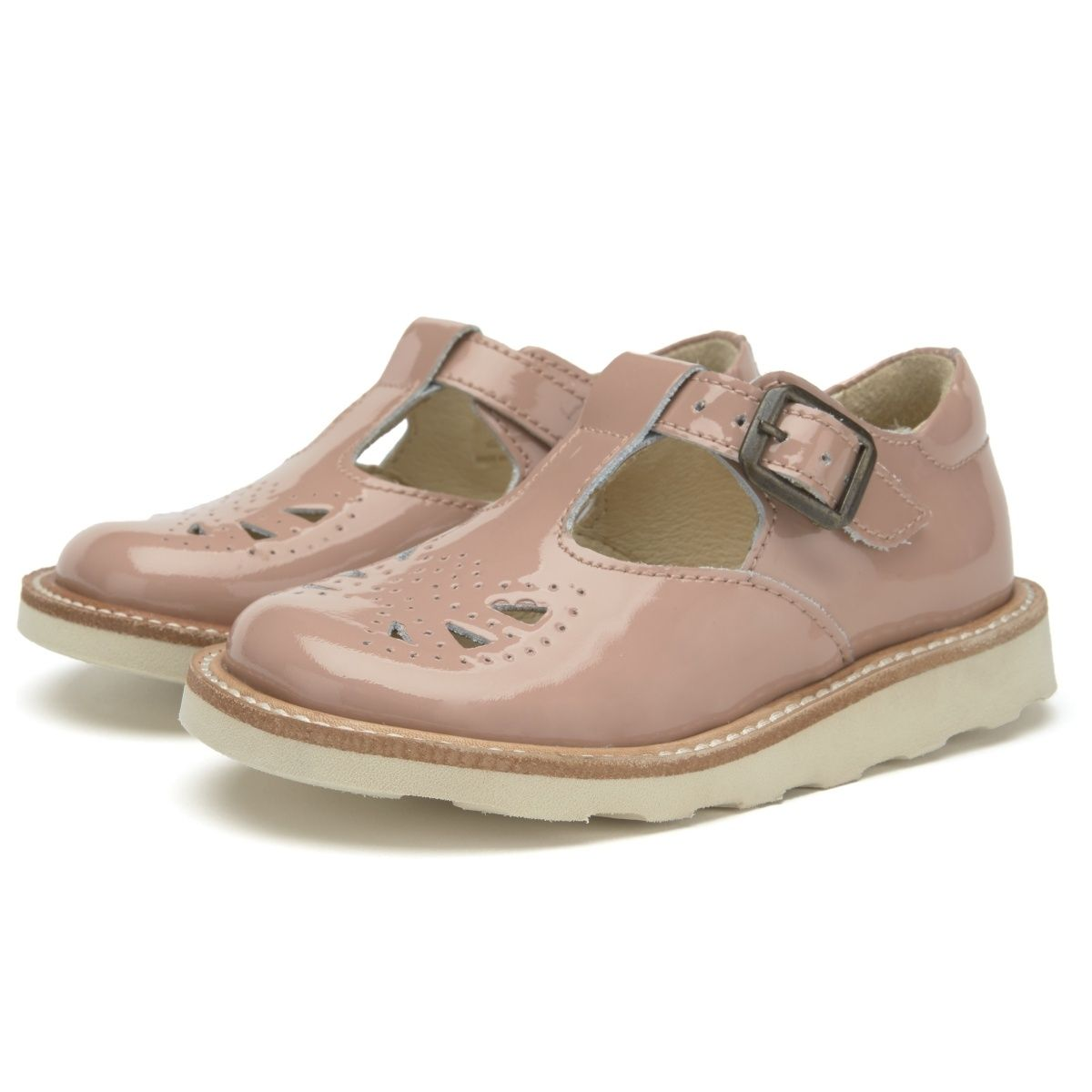 Young Soles T-bar Shoe Rosie Patent Leather pink