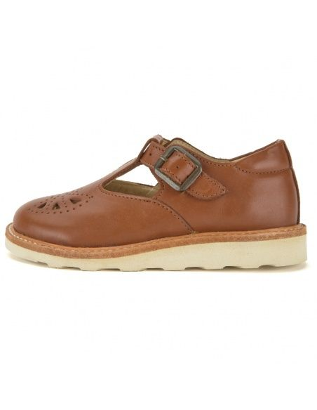 Young Soles T-bar Shoe Rosie Leather Chestnut brown