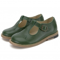 Półbuty Dottie Leather zielone