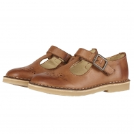 T-bar Shoe Penny Burnished Leather brown