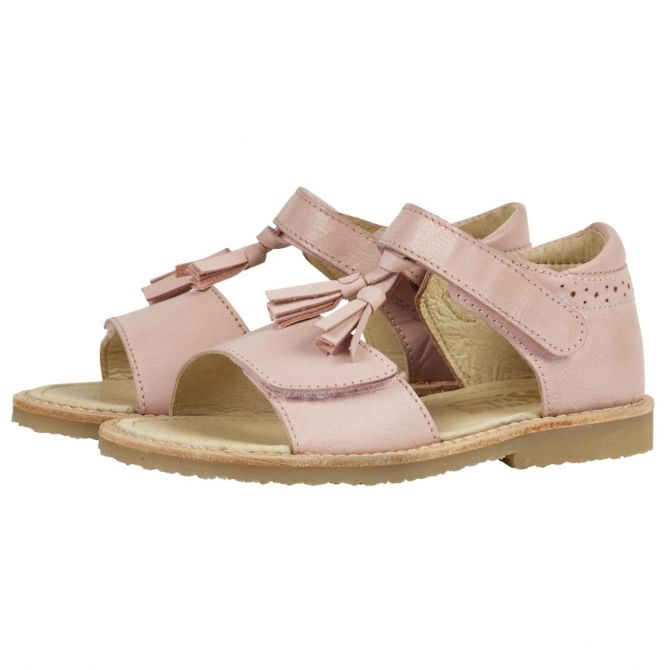 Young Soles Tassel Sandal Flo Leather pink