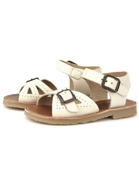 Young Soles Sandały Pearl Leather ecru