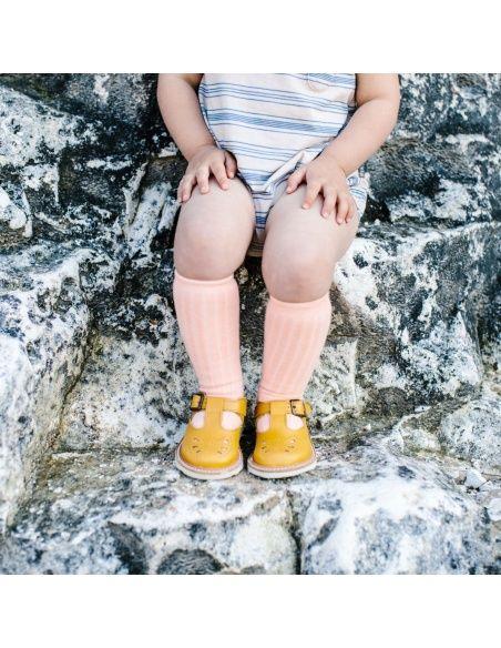 Young Soles Półbuty Rosie Leather żółte