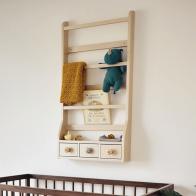 Półka drewniana z szufladami