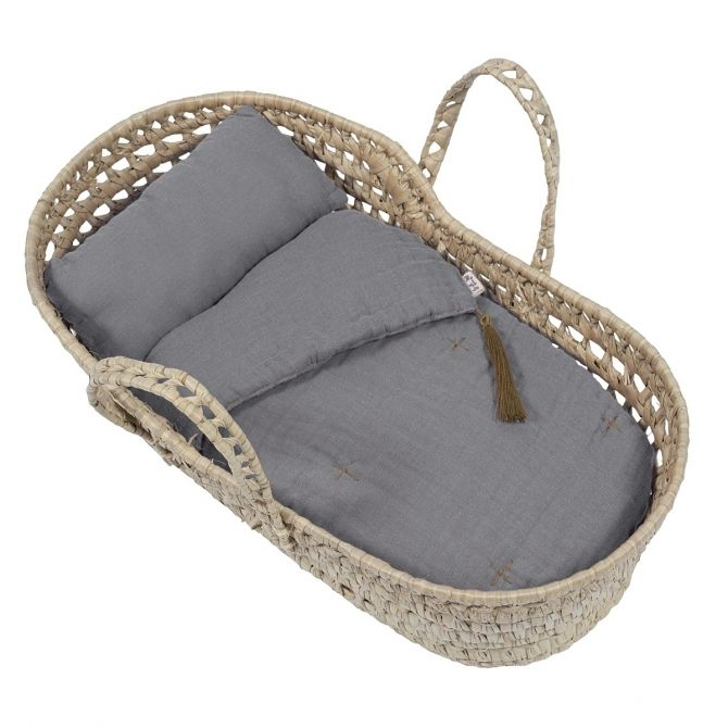 Doll Basket Bed Linen stone grey - Numero 74