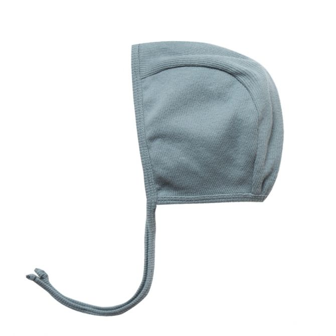 Quincy Mae Ribbed Baby Bonnet blue