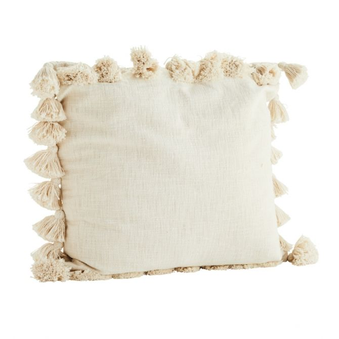 Cushion cover tassels off white - Madam Stoltz