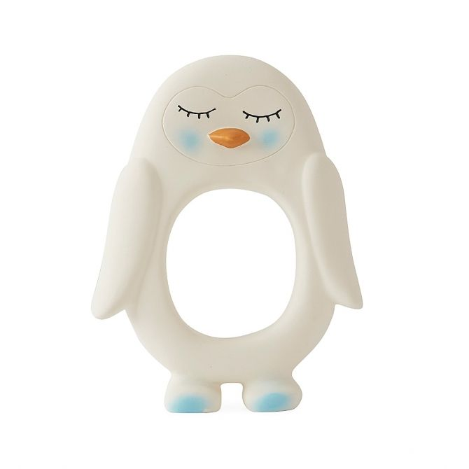 Penguin Baby Teether white - OYOY