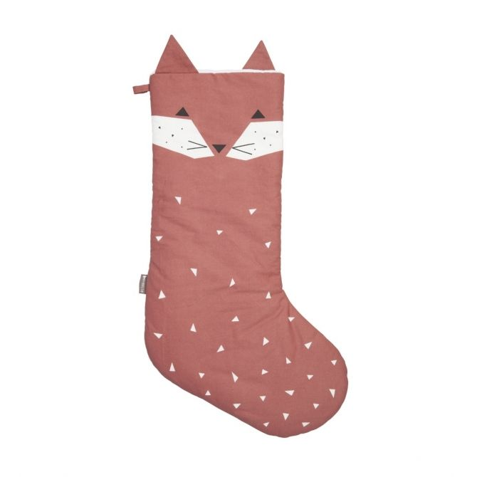 Fabelab Animal Christmas Stocking Fox rosewood