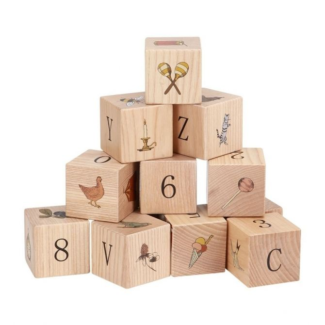 Wooden Blocks oak - Konges Slojd