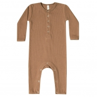 Romper Ribbed Baby brązowy