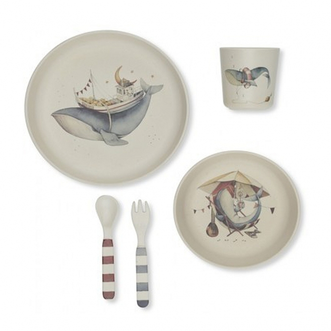 Dinner Set Whale - Konges Slojd