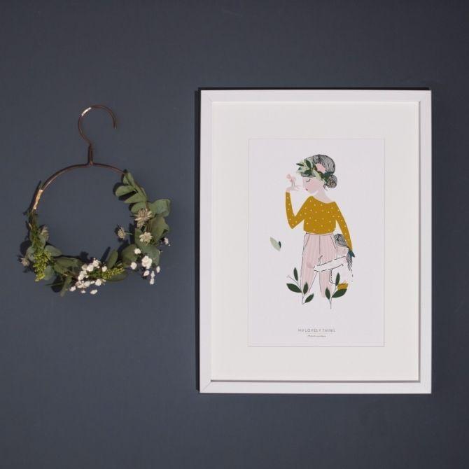 My Lovely Thing Plakat Adélaïde musztardowy