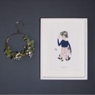 Poster Adélaïde blue