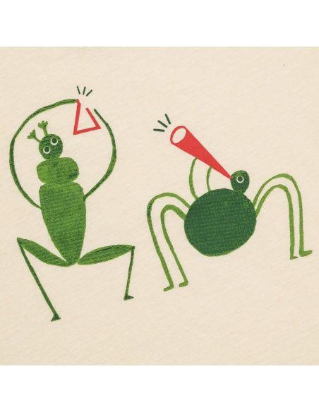 Chmurrra Burrra T-shirt Grasshopper beżowy
