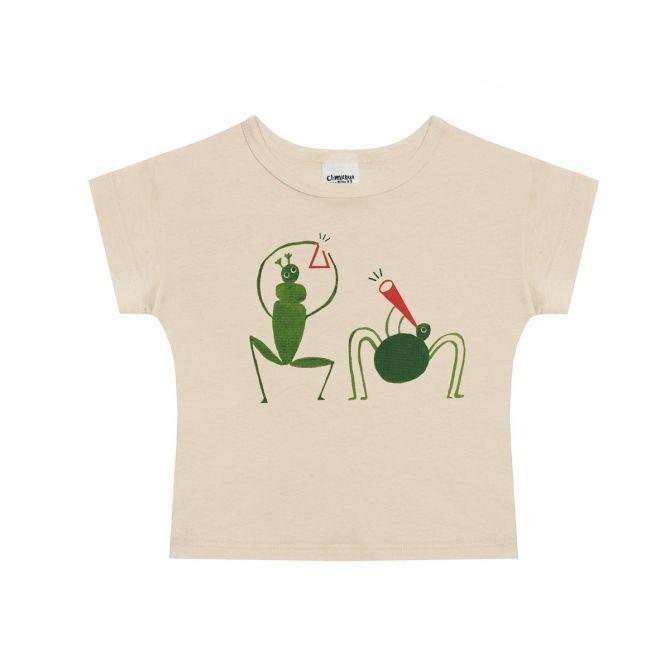 T-shirt Grasshopper beżowy - Chmurrra Burrra
