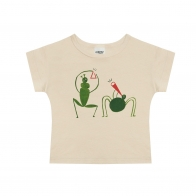 Grasshopper t-shirt beige