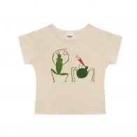 T-shirt Grasshopper beżowy