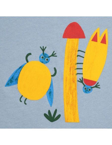 Beetles t-shirt blue - Chmurrra Burrra