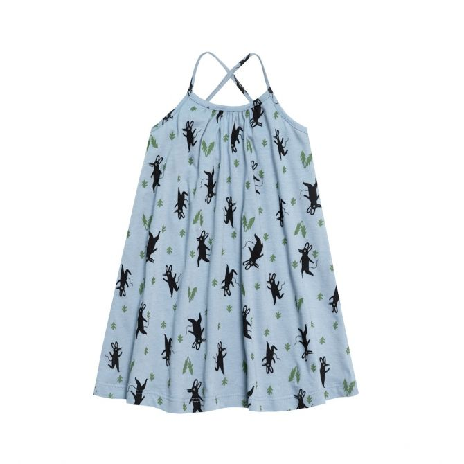 Sukienka Little Mice niebieska - Chmurrra Burrra