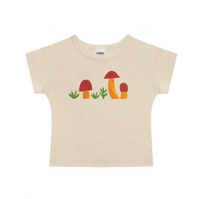 Mushrooms t-shirt beige - Chmurrra Burrra