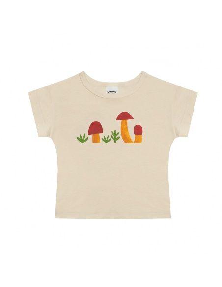 Mushrooms t-shirt beige - Chmurrra Burrra