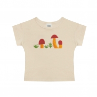 T-shirt Mushrooms beżowy