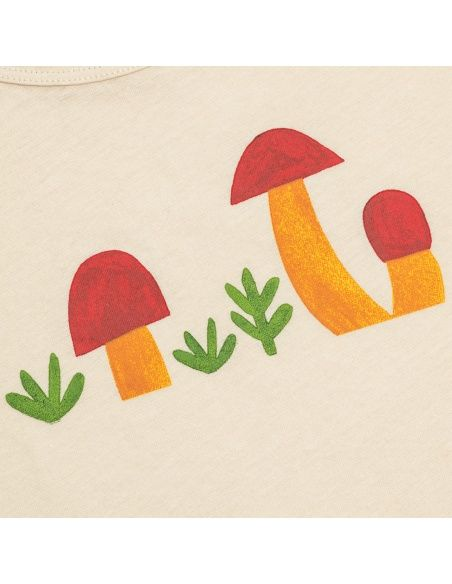 T-shirt Mushrooms beżowy - Chmurrra Burrra