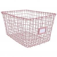 Wire basket pink