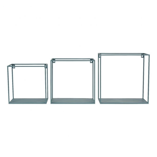 Kids Depot Set of wall shelf square blue
