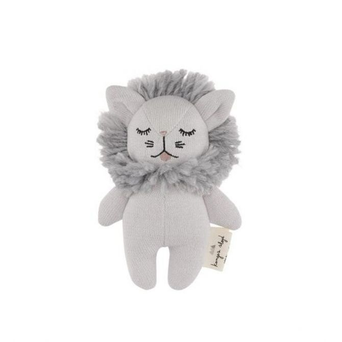 Konges Slojd Rattle Toy Mini Lion gray