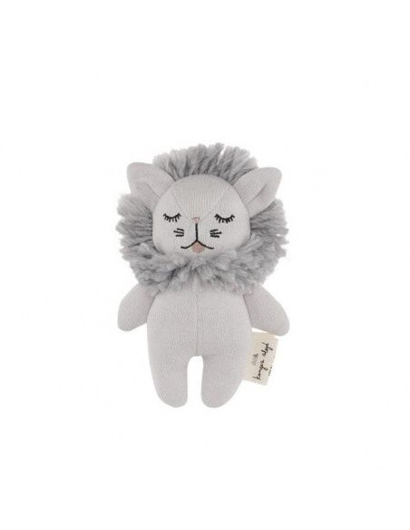Rattle Toy Mini Lion gray - Konges Slojd